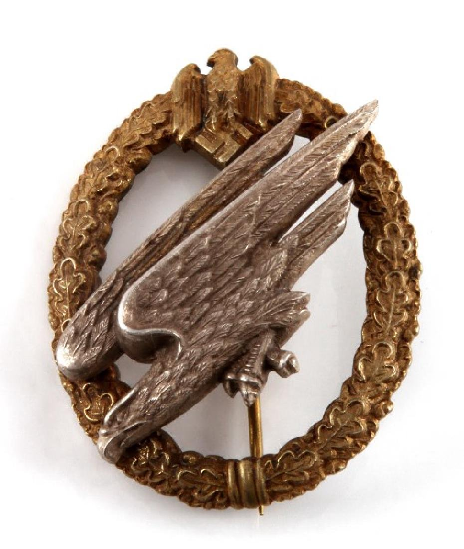 WWII GERMAN THIRD REICH PARATROOPER NAMED BADGE