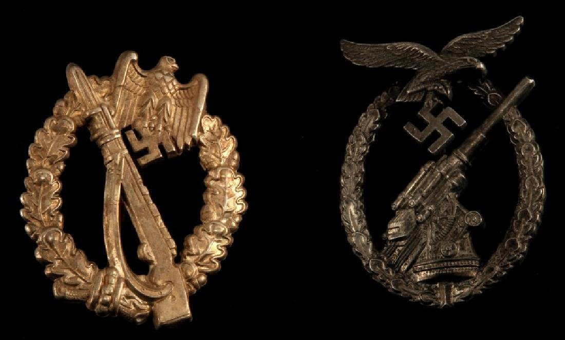 WWII GERMAN LUFTWAFFE FLAK & INF ASSAULT BADGE LOT