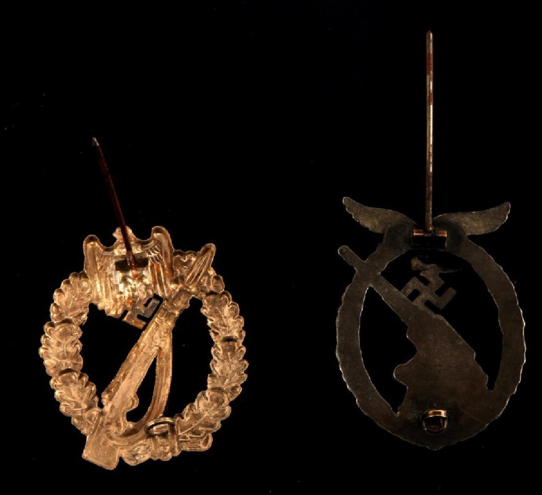 WWII GERMAN LUFTWAFFE FLAK & INF ASSAULT BADGE LOT - 3