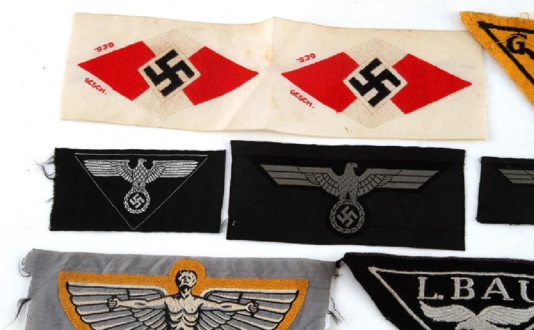 18 GERMAN WWII PATCHES LUFTWAFFE HEER NSFK JUGEND - 2