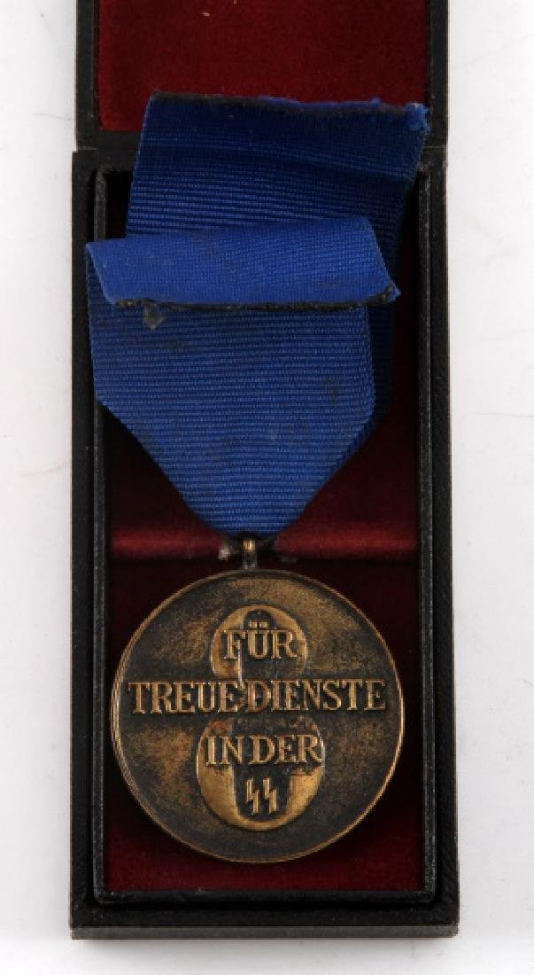 WWII GERMAN 3RD REICH SS 8 YEAR LONG SERVICE MEDAL - 2