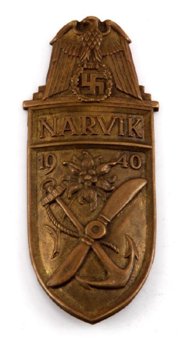 WWII GERMAN THIRD REICH KRIEGSMARINE NARVIK SHIELD