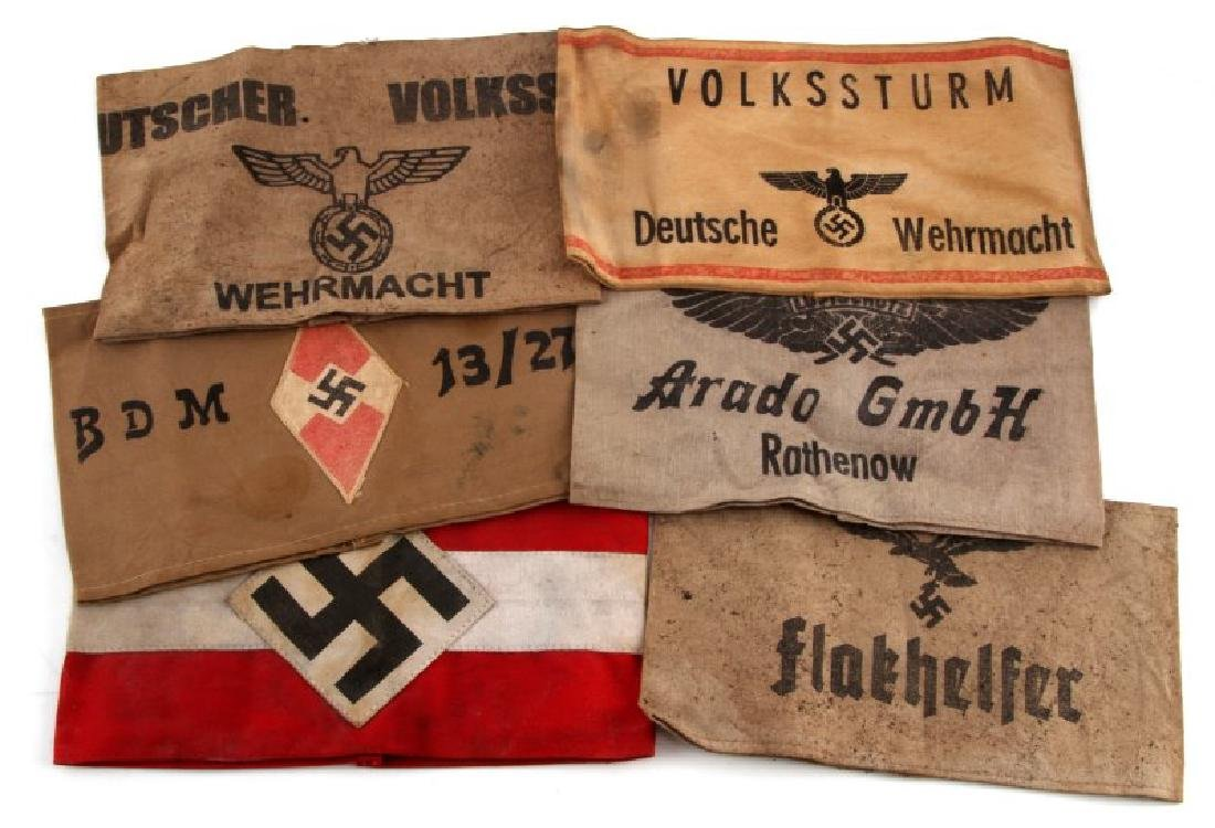 WWII GERMAN THIRD REICH ARMBAND LOT OF 6