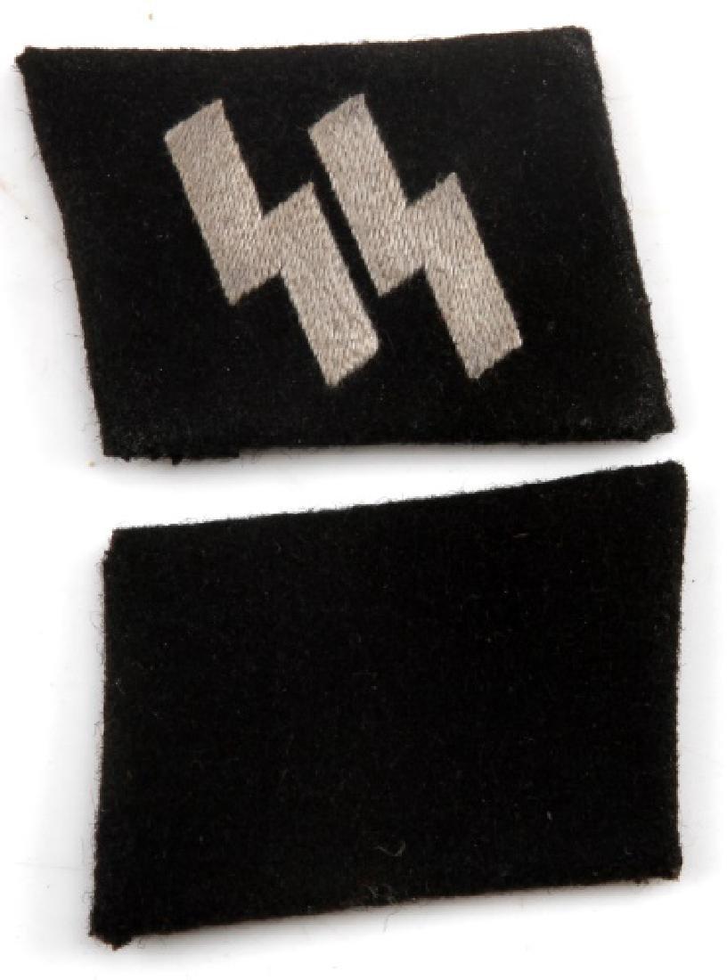 WWII GERMAN THIRD REICH WAFFEN SS EM COLLAR TABS