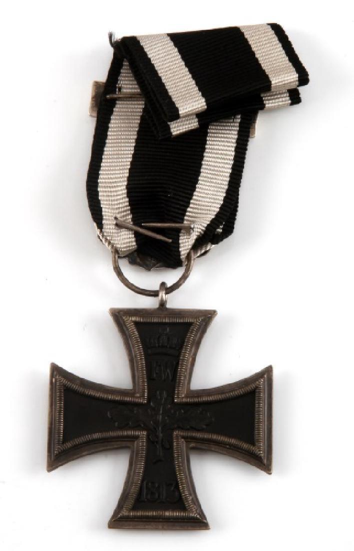 WWI GERMAN 1870 IRON CROSS 2ND CLASS W/ 1914 SPANGE - 2