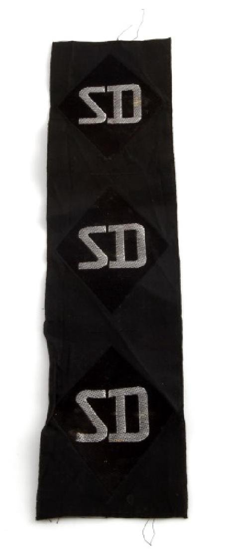 WWII GERMAN THIRD REICH SD SS SLEEVE PATCH