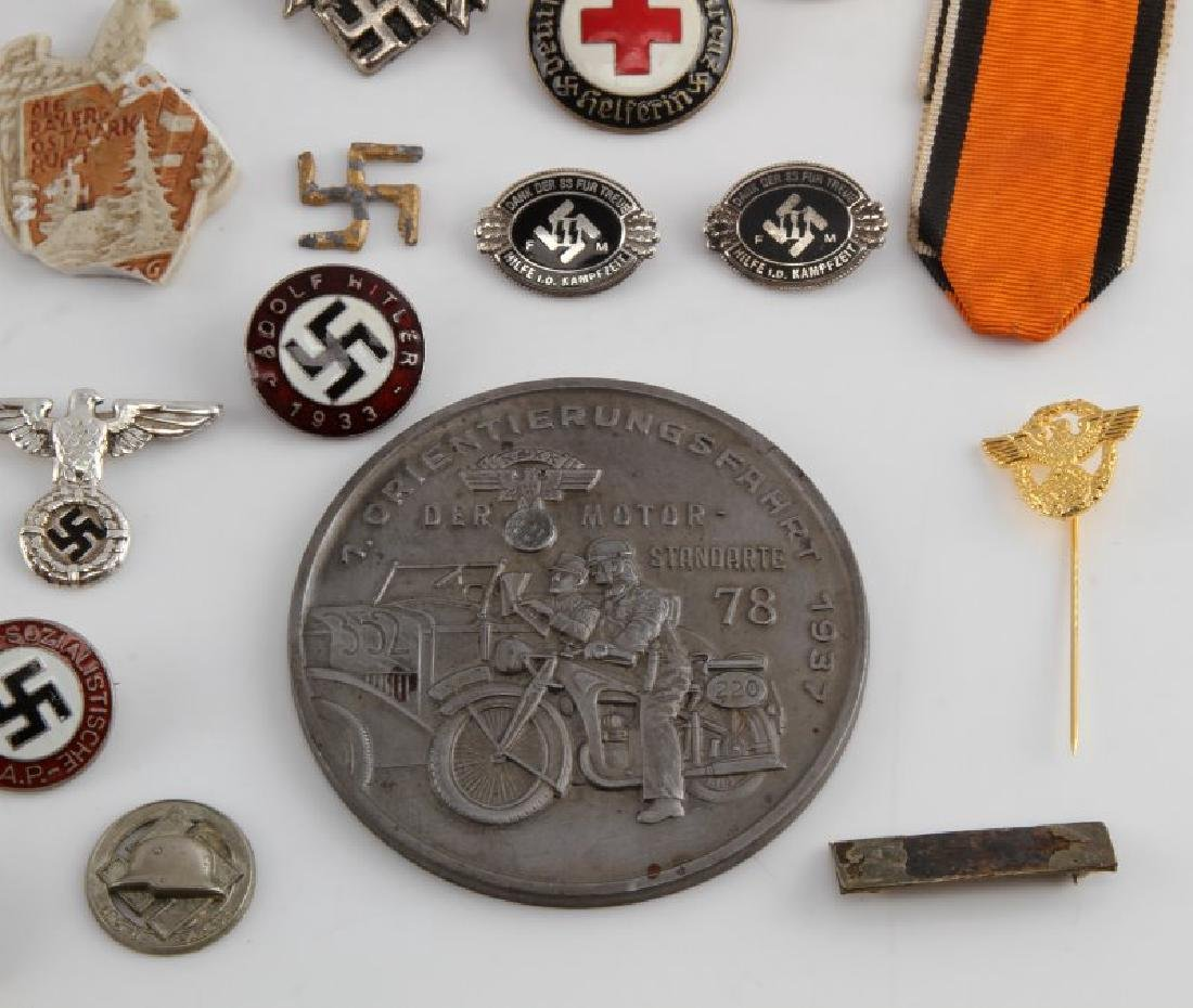 LOT OF GERMAN WWII MEDALS PINS TINNIES BADGES MORE - 3