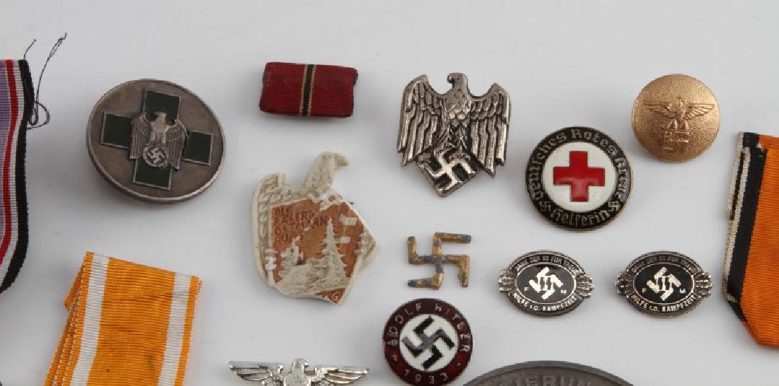 LOT OF GERMAN WWII MEDALS PINS TINNIES BADGES MORE - 4