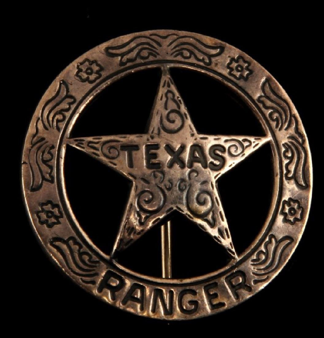 TEXAS RANGER MEXICAN SILVER COIN BADGE