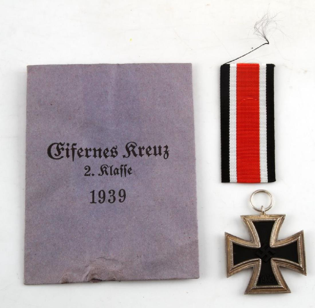 GERMAN WWII 2ND CLASS IRON CROSS W RIBBON ENVELOPE