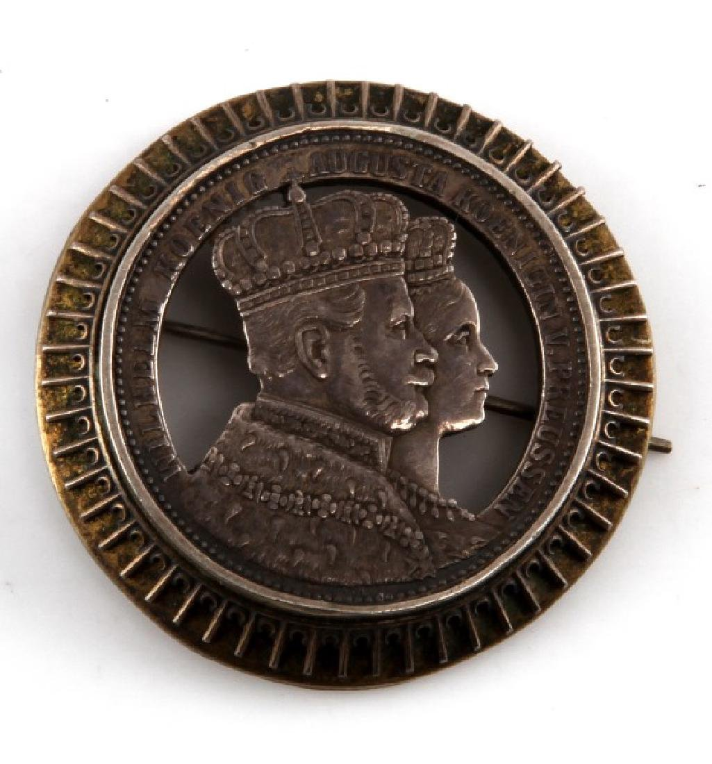 PRUSSIAN SILVER BROOCH DEPICTING EMPEROR WILHELM I