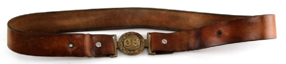 US CIVIL WAR REUNION CONFEDERATE BELT & BUCKLE