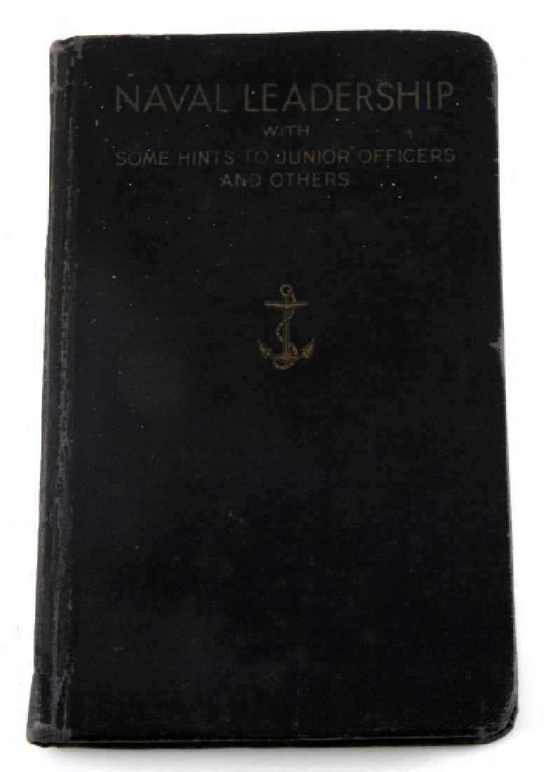 FLEET ADMIRAL HALSEY SIGNED NAVAL LEADERSHIP BOOK