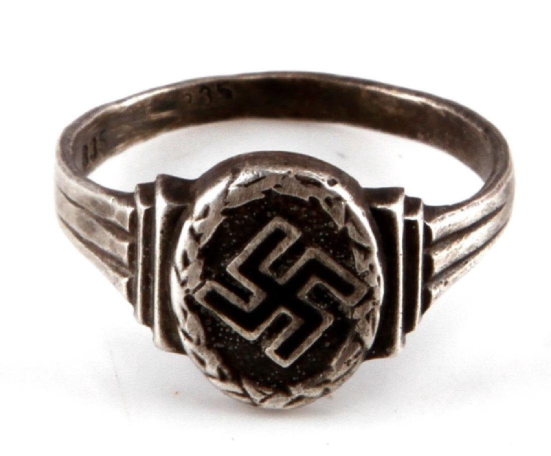 GERMAN WWII SILVER POLITICAL LEADERS RING