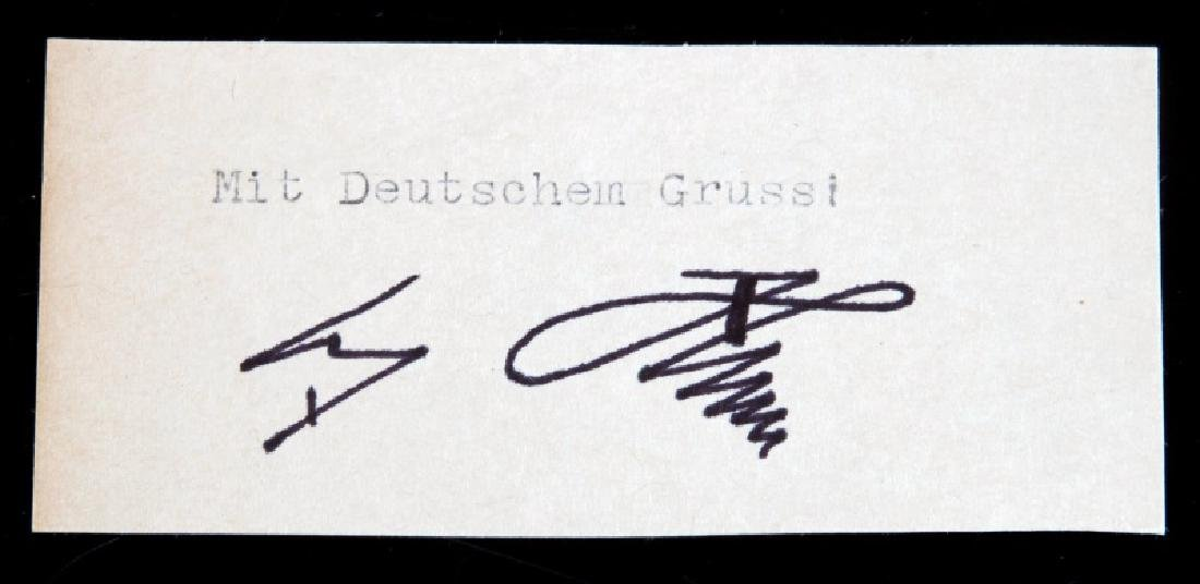 WWII GERMAN HEINRICH HIMMLER SIGNED DOCUMENT