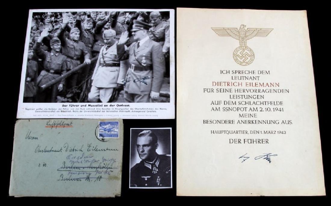 WWII GERMAN THIRD REICH COMMENDATION DOCUMENT LOT