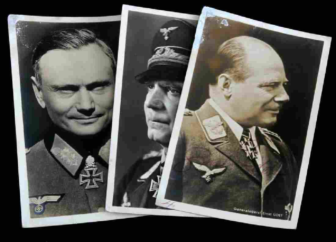 WWII GERMAN THIRD REICH GENERAL SIGNED PHOTO LOT