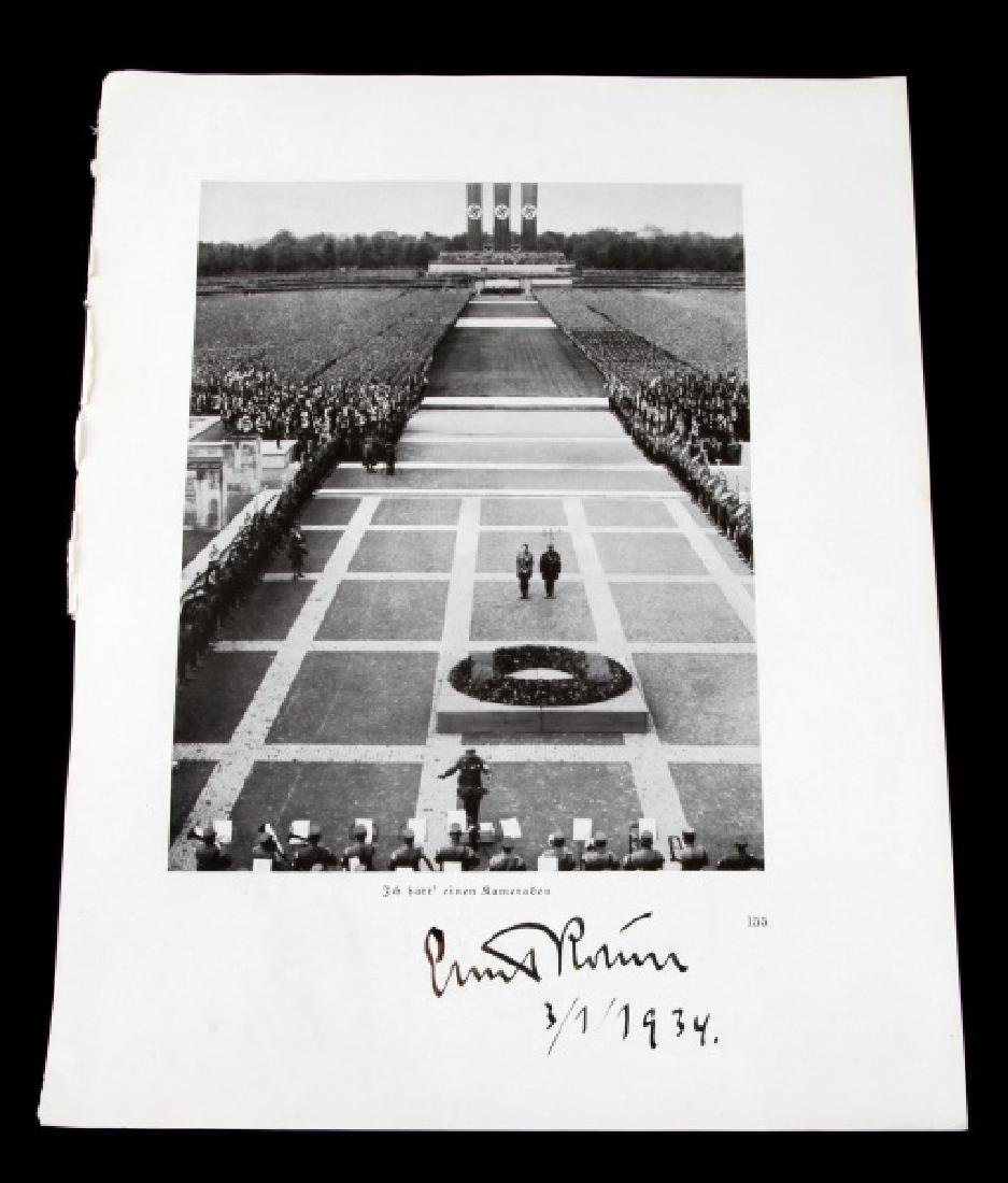 ERNST ROHM SIGNED NUREMBURG PRINT 1934