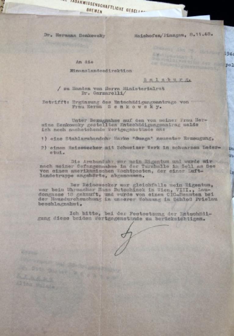 DR. HERMANN SENKOWSKY SS OBERFUHRER DOCUMENTS - 5