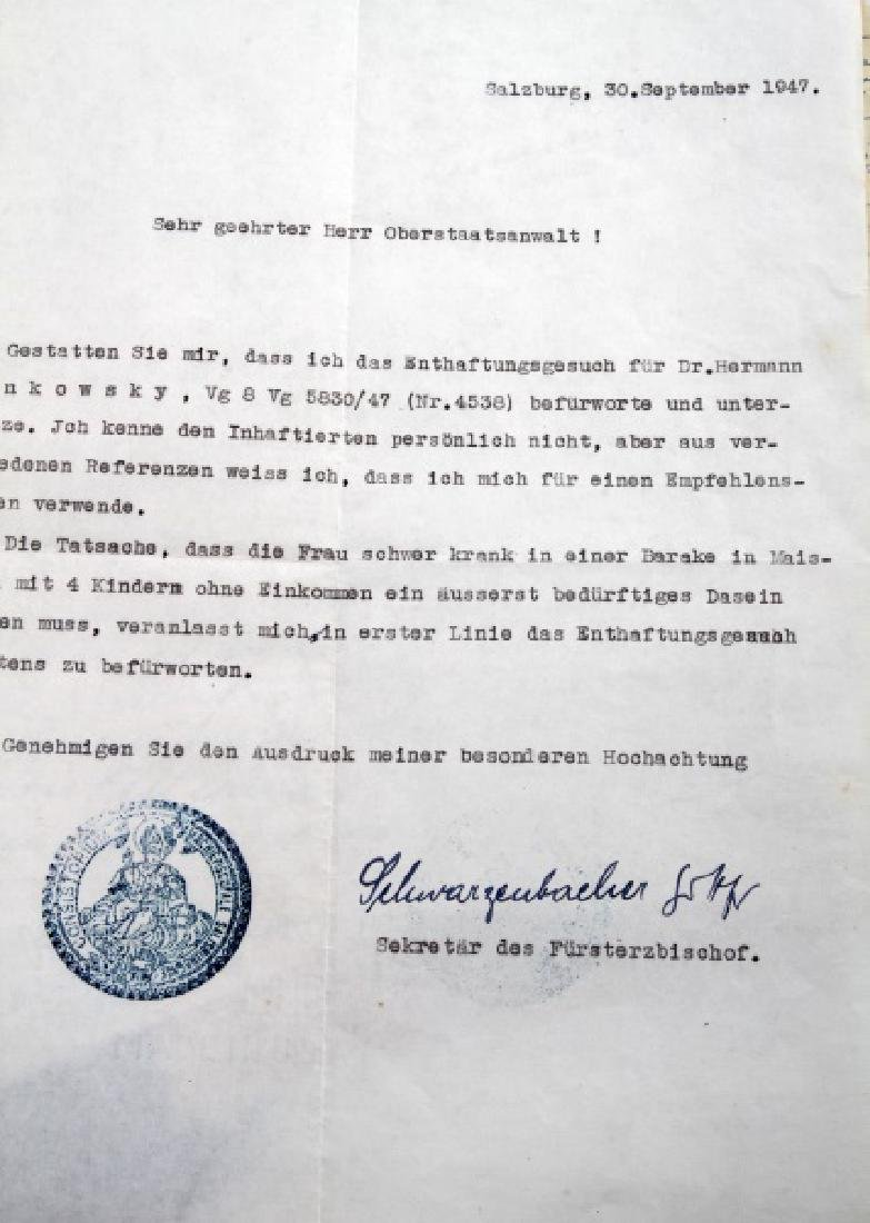 DR. HERMANN SENKOWSKY SS OBERFUHRER DOCUMENTS - 6