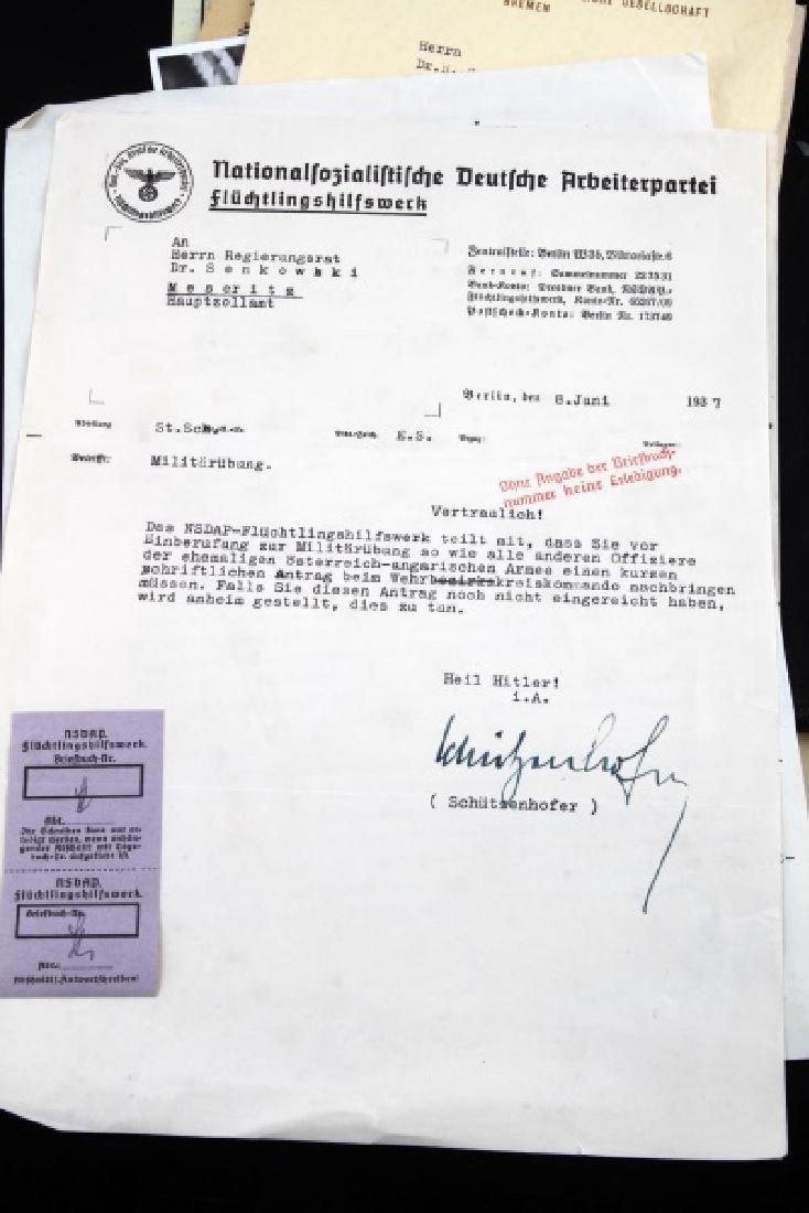 DR. HERMANN SENKOWSKY SS OBERFUHRER DOCUMENTS - 8