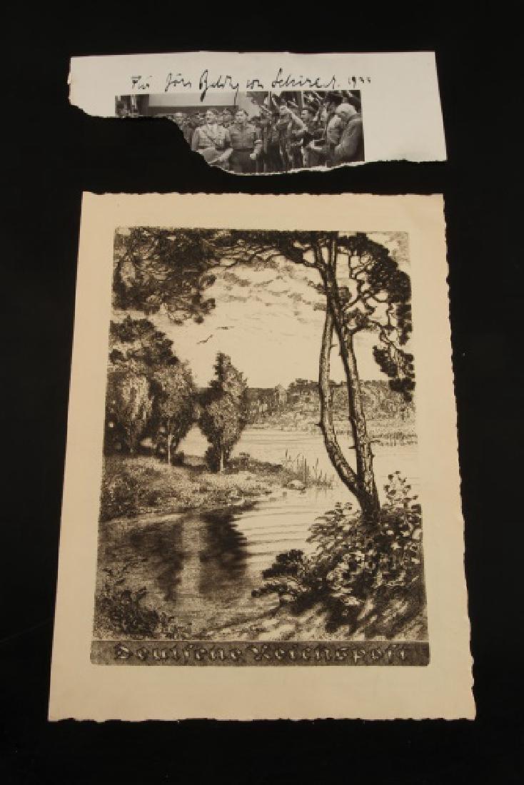 WWII GERMAN HIMMLER & VON SCHIRACH AUTOGRAPHS