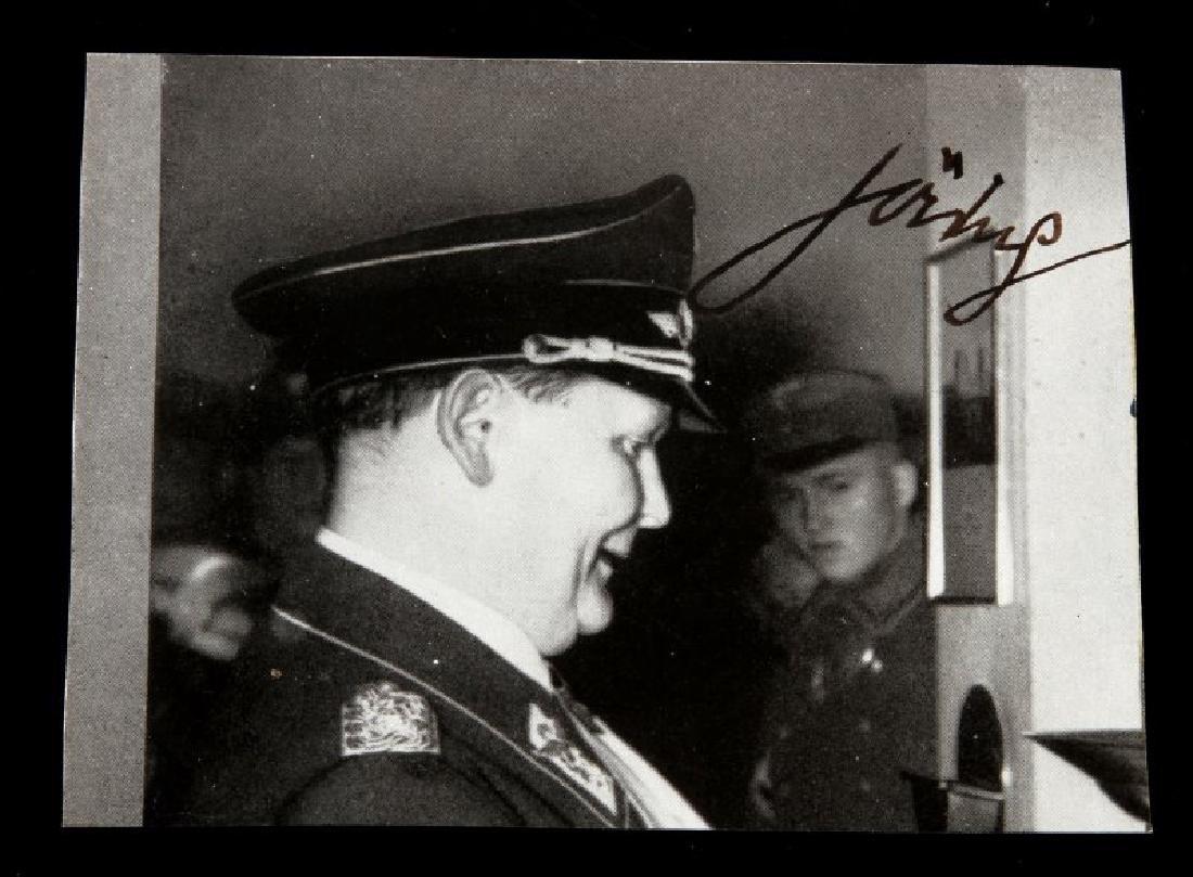 HERMANN GEORING AUTOGRAPH ON PHOTO GERMAN WWII