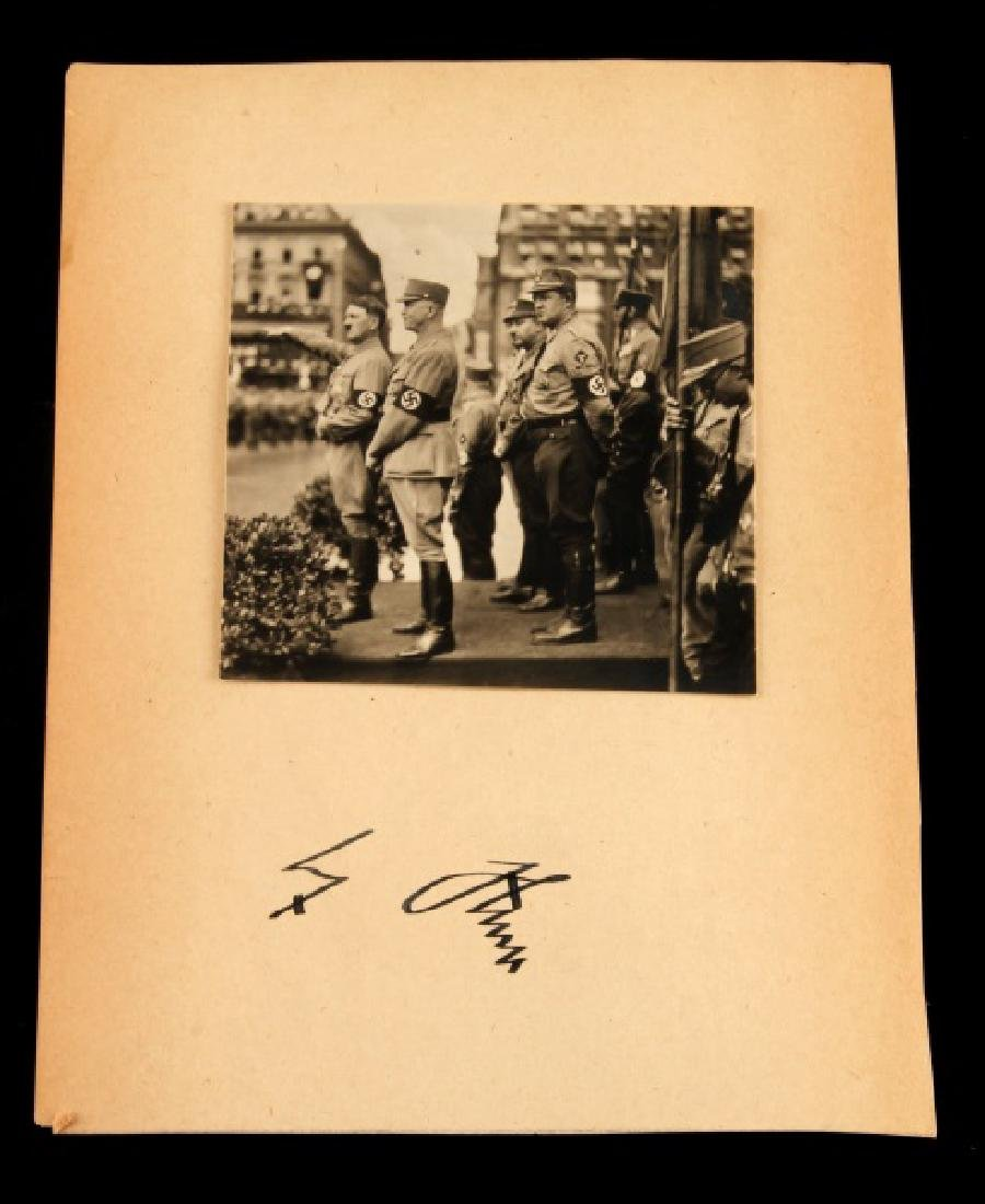 ADOLF HITLER SIGNATURE ON CARD WITH PHOTO 1944
