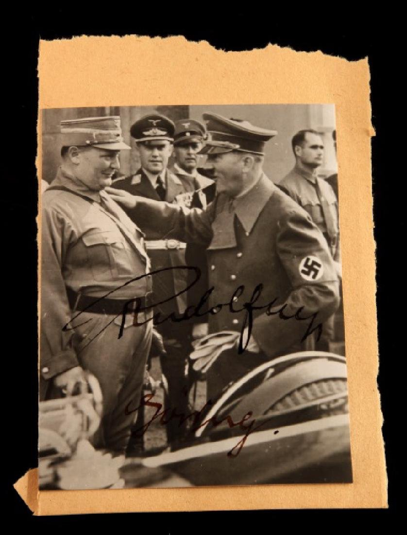 HERMANN GOERING RUDOLF HESS SIGNED PHOTO WWII