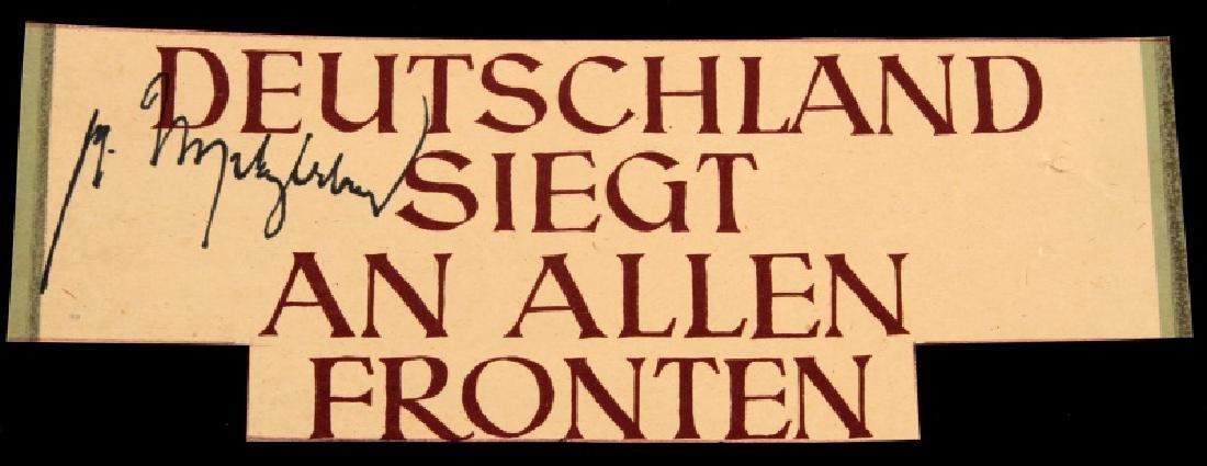 GERMAN WWII GENERAL VON WITZLEBEN SIGNATURE