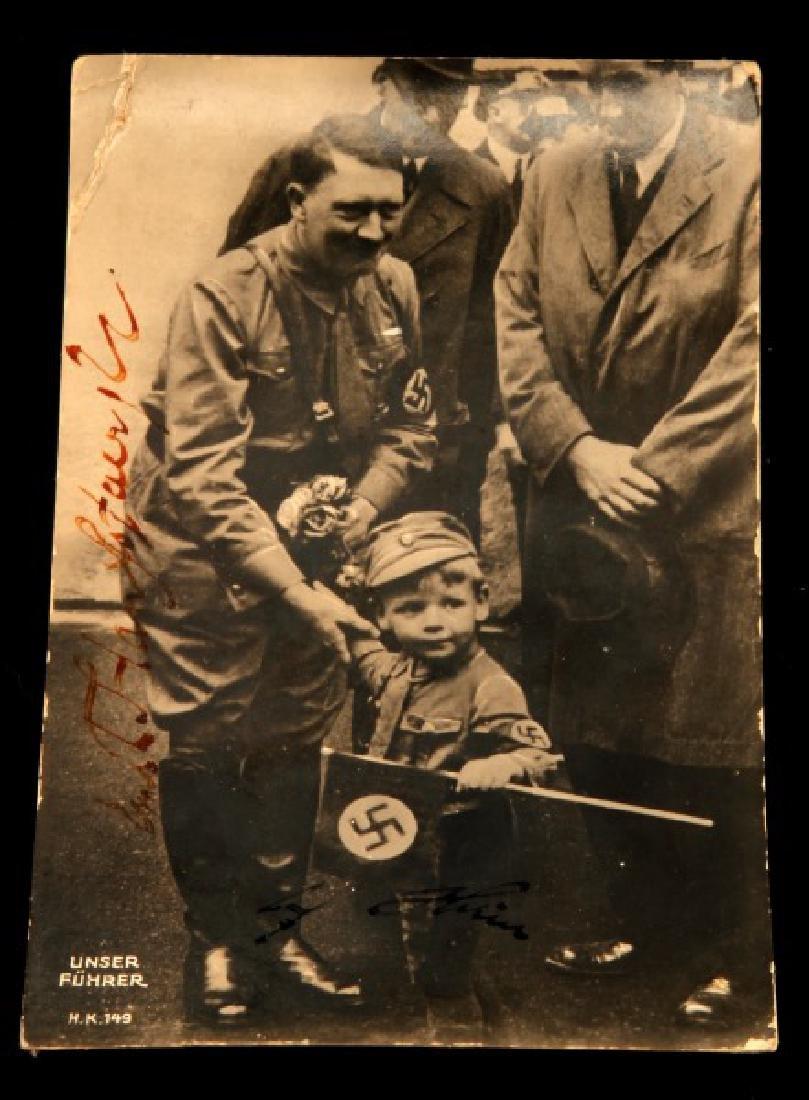 HITLER & ERNST HANFSTAENGL SIGNED PHOTO WWII