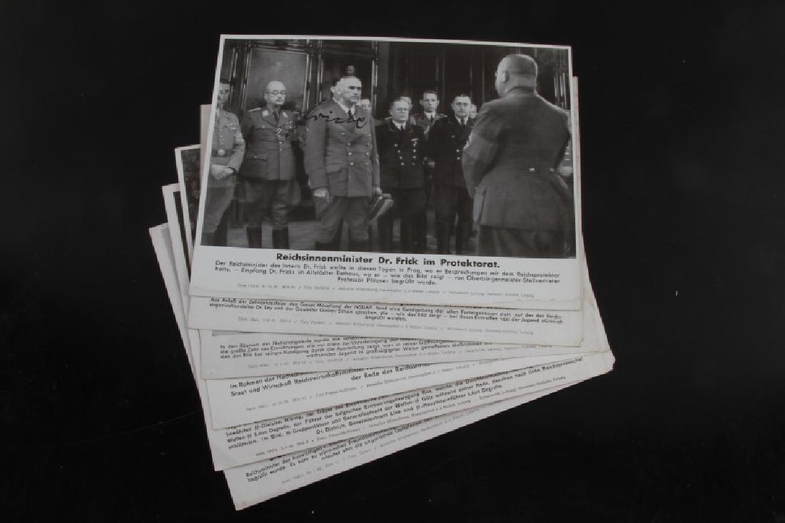 HIGH RANKING GERMAN OFFICIALS AUTOGRAPH PHOTO LOT