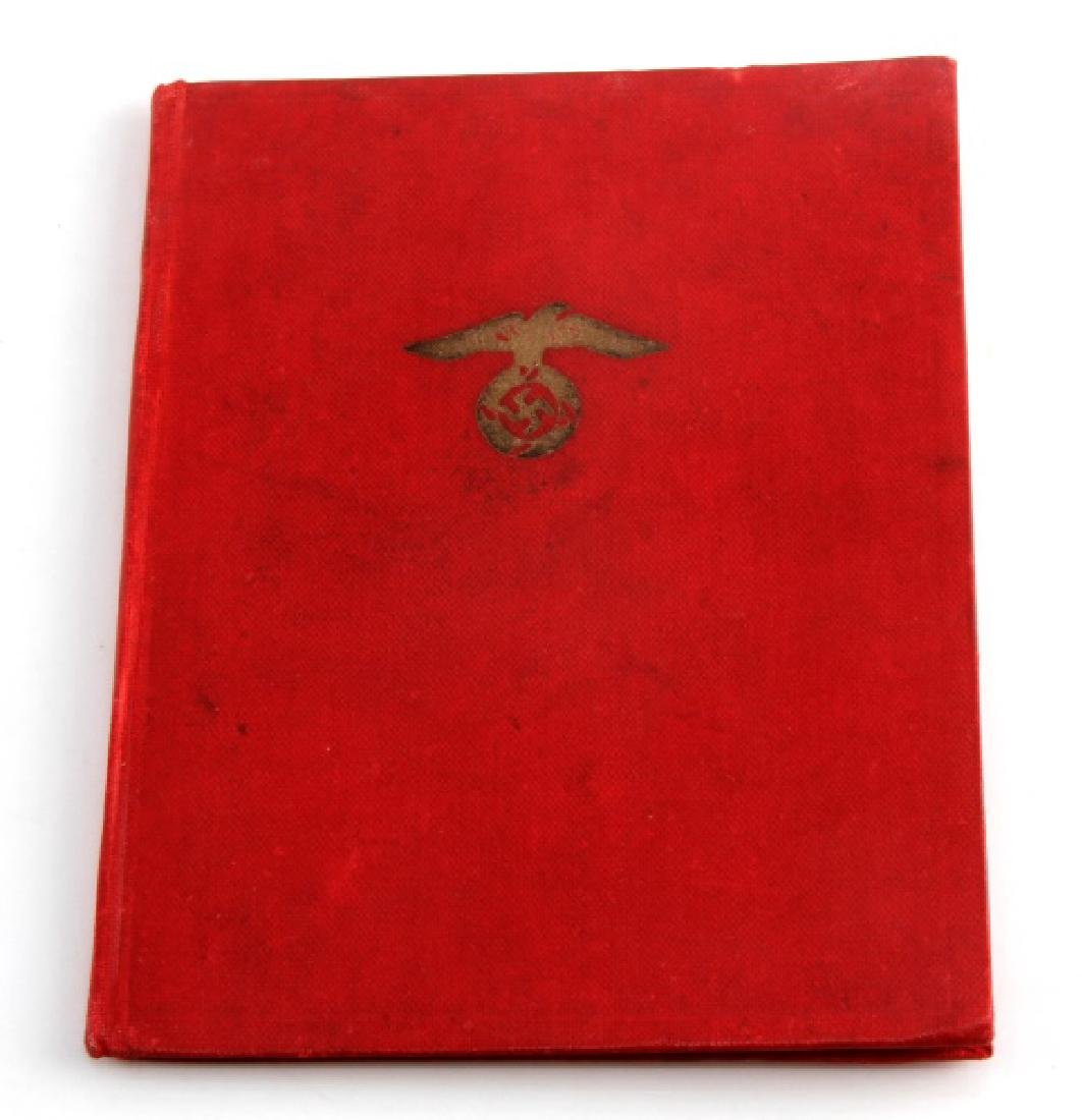 GERMAN THIRD REICH RED NSDAP MEMBERSHIP BOOK