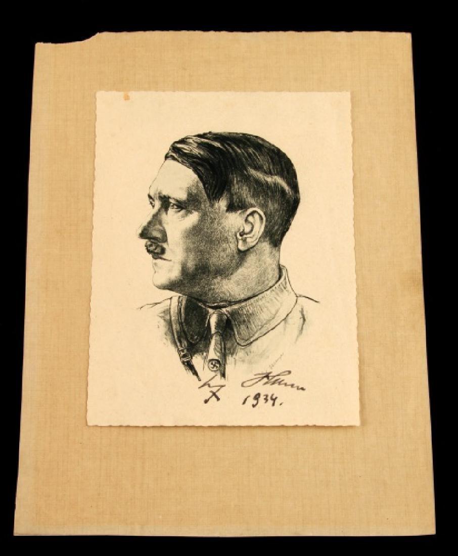 WWII 1936 ADOLF HITLER SIGNED PORTRAIT