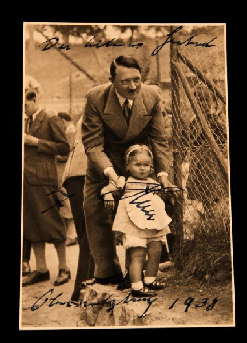 WWII ADOLF HITLER 1938 ON POSTCARD PHOTOGRAPH