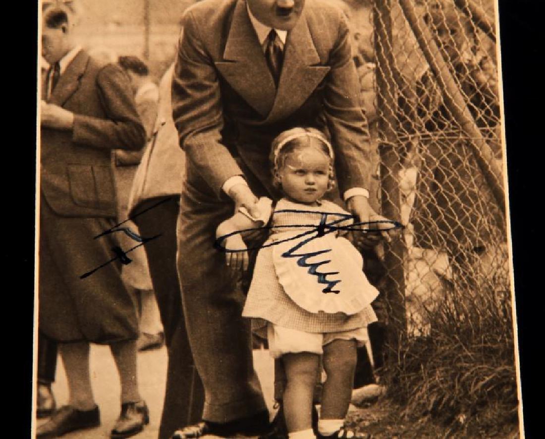 WWII ADOLF HITLER 1938 ON POSTCARD PHOTOGRAPH - 2