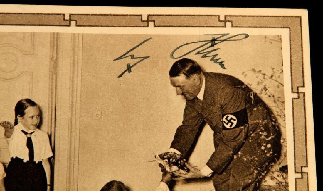WWII 1939 SIGNED ADOLF HITLER JUGEND POSTCARD - 2