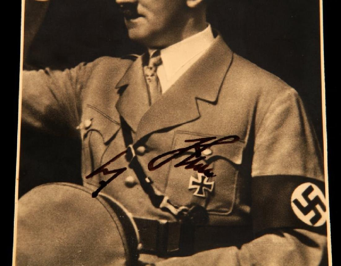 WWII GERMAN ADOLF HITLER SIGNED AUTOGRAPH POSTCARD - 2