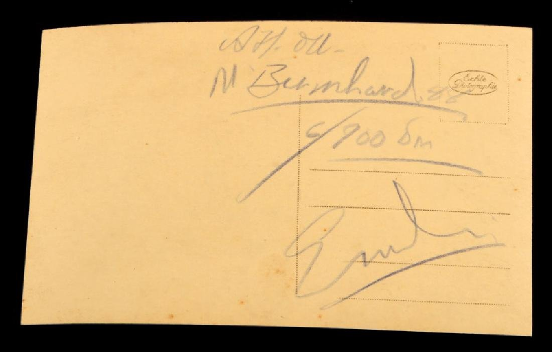 WWII GERMAN ADOLF HITLER SIGNED AUTOGRAPH POSTCARD - 3