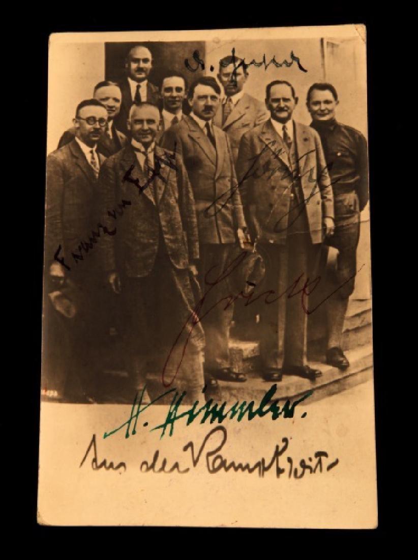 WWII HIMMLER GOEBELS GORING & OTHERS SIGNED CARD