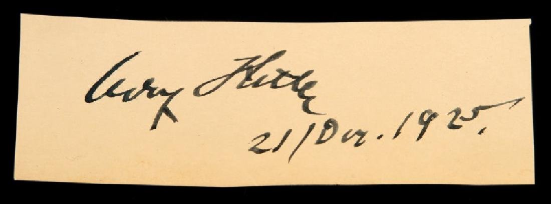 WWII GERMANY 1925 ADOLF HITLER CLIPPED SIGNATURE
