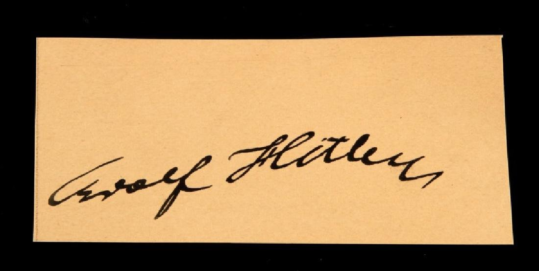1920'S GERMANY ADOLF HITLER CLIPPED SIGNATURE