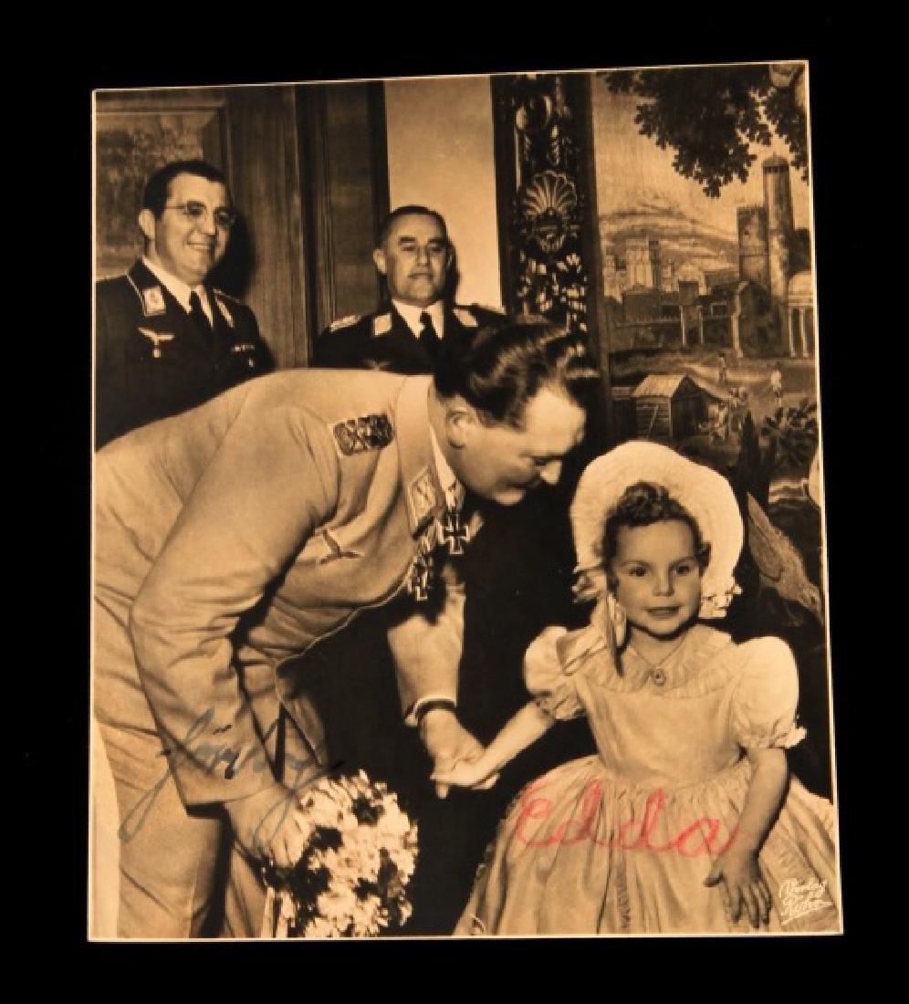 HERMANN GORING & DAUGHTER EDDA SIGNED POSTCARD