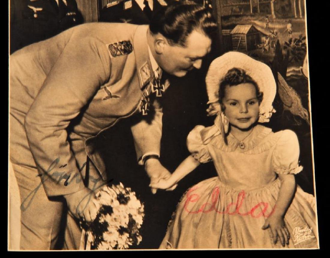 HERMANN GORING & DAUGHTER EDDA SIGNED POSTCARD - 2