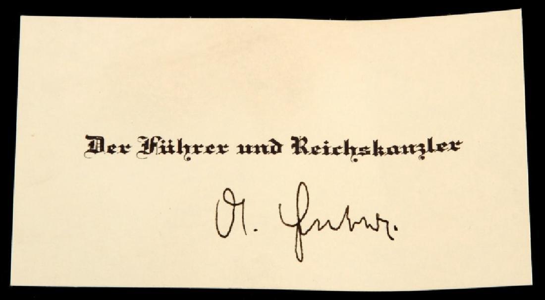 DR JOSEF GOEBBELS SIGNED DER FUHRER CARD