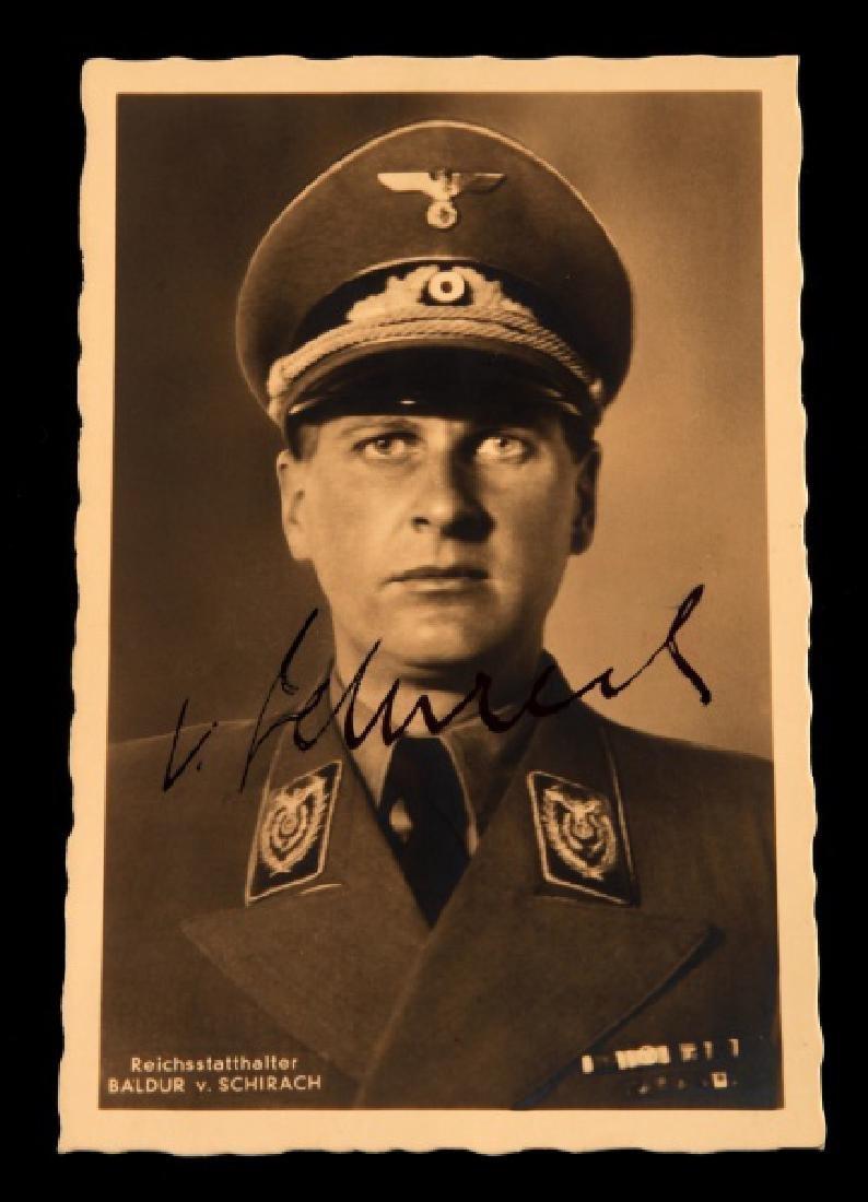 WWII GERMANY BALDUR VON SCHIRACH SIGNED POSTCARD