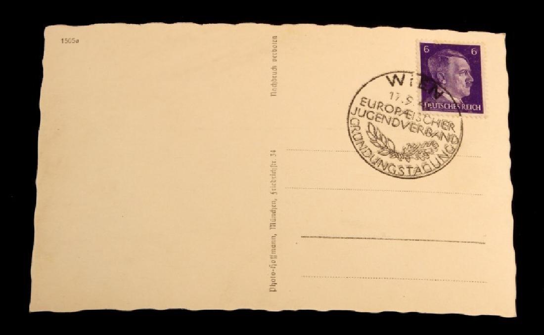 WWII GERMANY BALDUR VON SCHIRACH SIGNED POSTCARD - 2