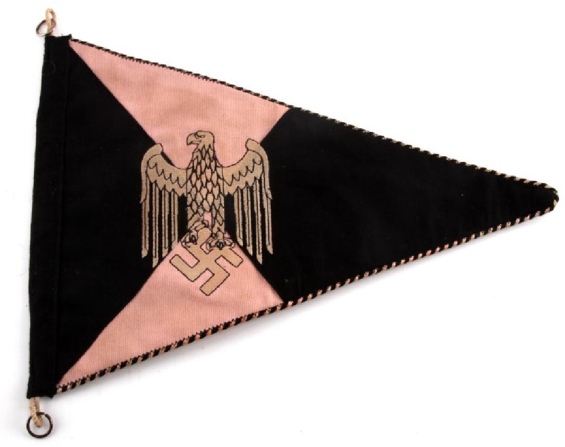 WWII GERMAN THIRD REICH PANZER HEER PENNANT