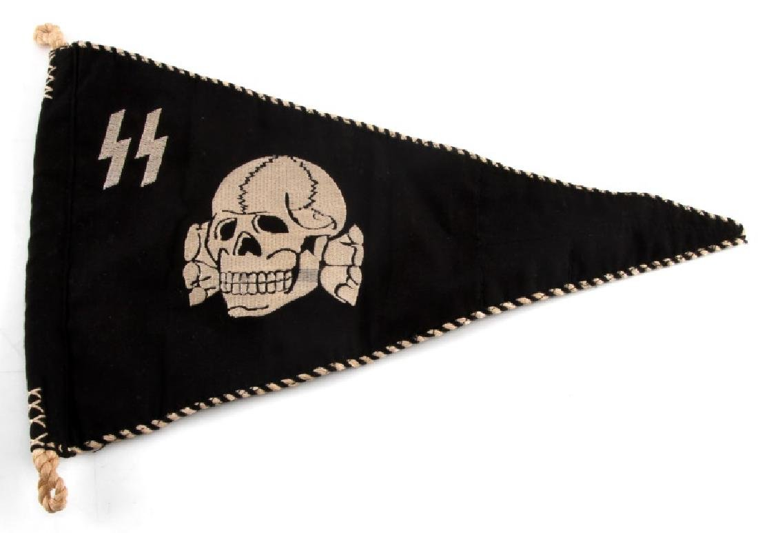 WWII GERMAN THIRD REICH SS TOTENKOPF PENNANT