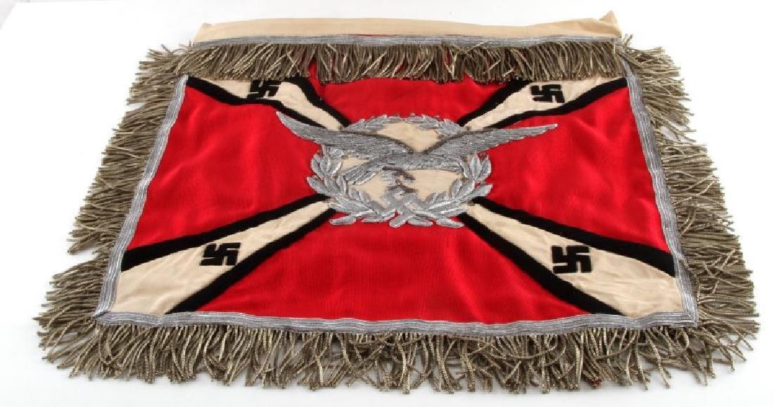 WWII NSDAP LUFTWAFFE ARTILLERY TRUMPET BANNER